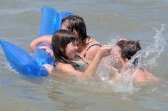 Family on the sea. Summer. Royalty Free Stock Photos