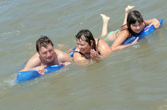 Family on the sea. Summer. Stock Images