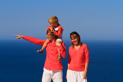 Family on sea vacation Royalty Free Stock Image