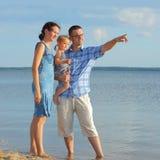 Family at sea Royalty Free Stock Image