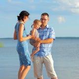 Family at sea Stock Photography