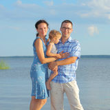 Family at sea Stock Image