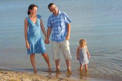 Family at sea Stock Photos