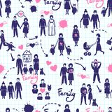Family Seamless Pattern Royalty Free Stock Images