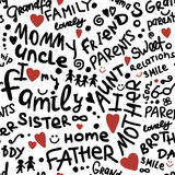 Family. seamless pattern for your design Royalty Free Stock Image