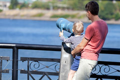 Family at seaside Stock Photos