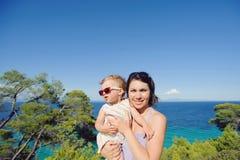 Family at seaside Royalty Free Stock Photo