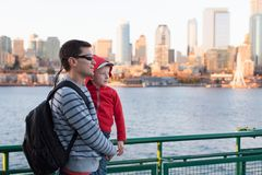 Family in seattle Stock Image