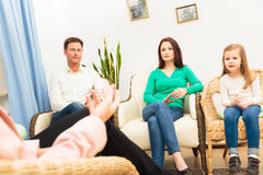 Family Seeing A Psychotherapist Stock Image