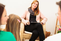 Family Seeing A Psychotherapist Stock Photography
