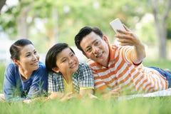 Family selfie royalty free stock image