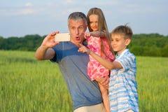 Family selfie. Stock Photography