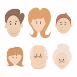 Family set Royalty Free Stock Images