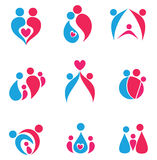 Family set of icons Stock Photos