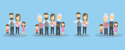 family set. Royalty Free Stock Images