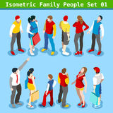 Family Set 01 People Isometric Stock Photos