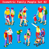 Family Set 02 People Isometric Royalty Free Stock Image