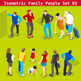 Family Set 03 People Isometric Royalty Free Stock Photos