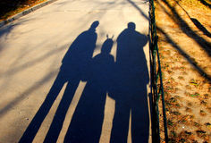 Family shadow Royalty Free Stock Photos