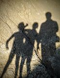 Family. A shadow family on the holiday at the mud volcanoes Royalty Free Stock Photos