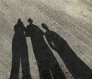 Family Shadow royalty free stock image