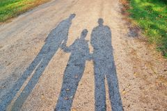 Family shadow Stock Images