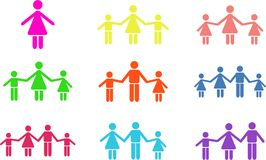 Family shapes Royalty Free Stock Photography