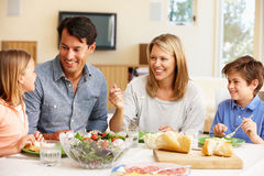 Family sharing meal Royalty Free Stock Photos