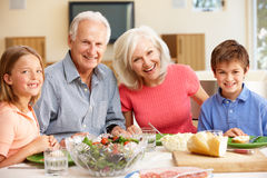 Family sharing meal Royalty Free Stock Photo