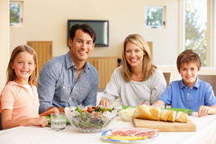 Family sharing meal Royalty Free Stock Images