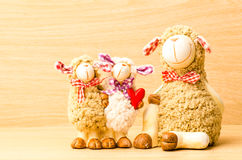 Family sheep doll Stock Images