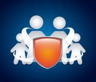 Family shield Royalty Free Stock Photography
