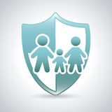 Family shield Stock Photo