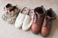 Family Shoes royalty free stock images
