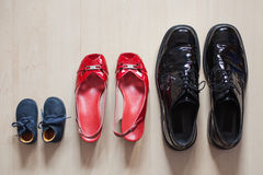 Family shoes Stock Photography