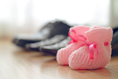 Family shoes in a row Stock Image