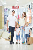 Family in shop Royalty Free Stock Images