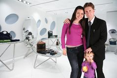 Family in shop Stock Photography