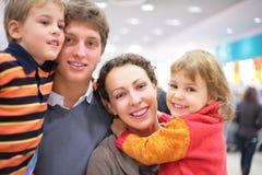 Family in shop Stock Photos