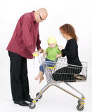 Family at shopp Royalty Free Stock Photography