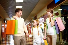 Family of shoppers Royalty Free Stock Photo