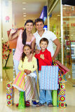 Family of shoppers Stock Photos