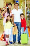 Family of shoppers Stock Image