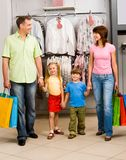 Family shopping Stock Images