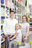 Family shopping Royalty Free Stock Photography