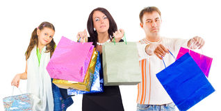 Family shopping Stock Image