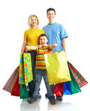 Family shopping Stock Photos