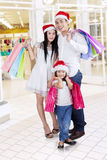 Family with shopping bags at mall Royalty Free Stock Image