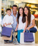 Family at the shopping center Stock Photography