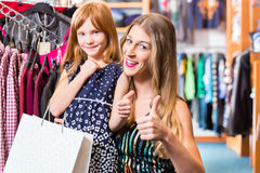 Family shopping fashion in store Royalty Free Stock Photography